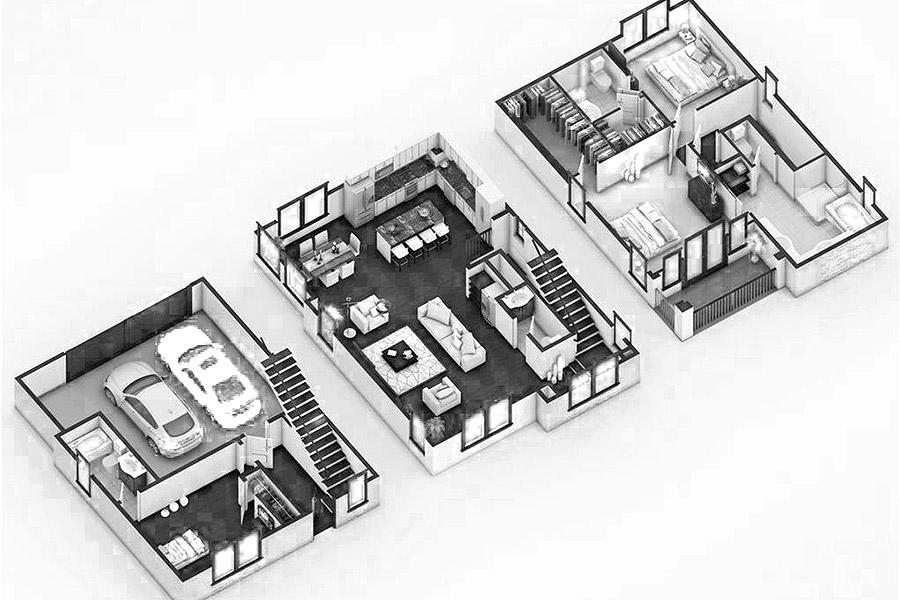 interior design plan drawing