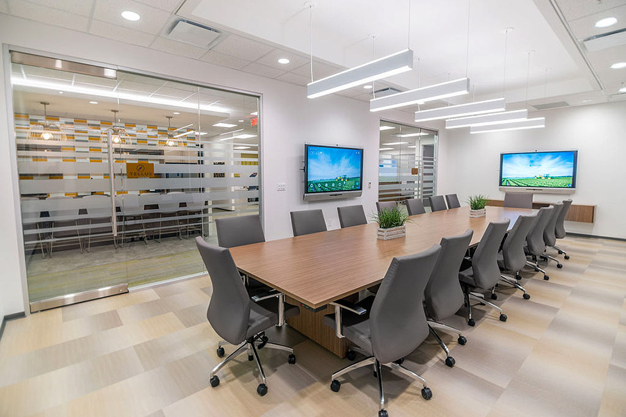Conference room with a tv wall