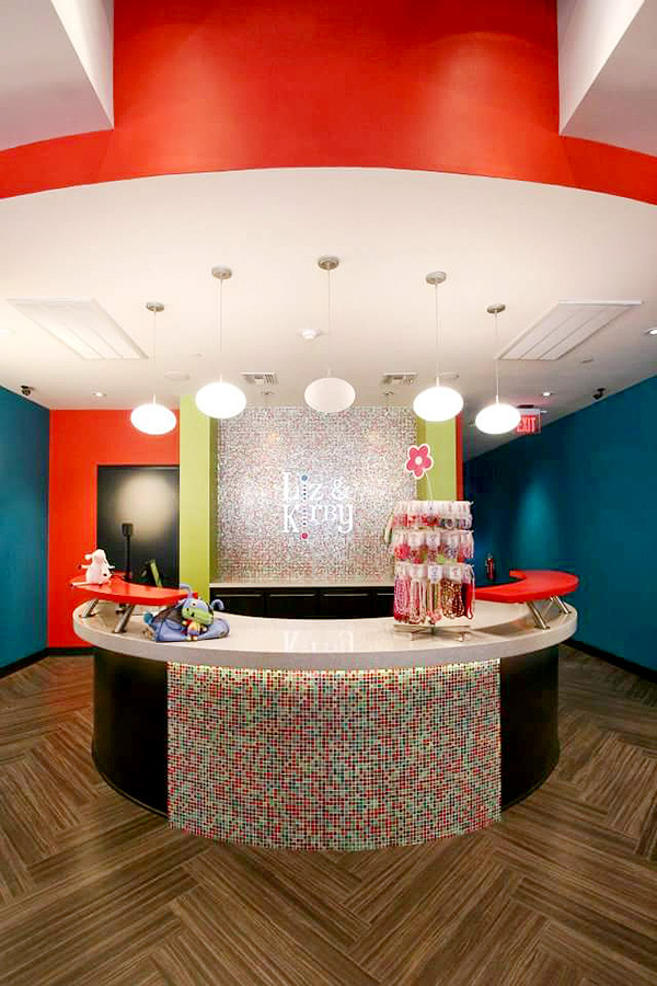 Lobby of a children's clothing store designed by Shundra Harris Interiors