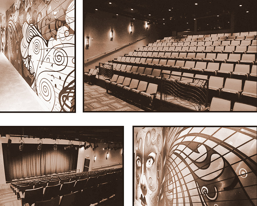 Auditorium with a performing stage